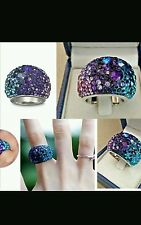 authentic swarovski purpke chic ring