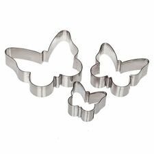 Ateco Stainless Steel Butterfly Cutters, 3 Pcs - 5264