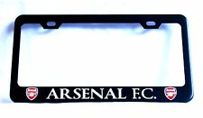 "Black ""ARSENAL F.C."" License Plate Frame, Custom Made of Powder Coated Metal"