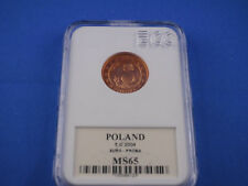 POLEN  Poland  5 Cent  2004 PROBA  -- MS65    (K1)