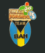 TORONTO 2015 Pan Am Olympic Games LIMITED Bahamas NOC delegation oval team pin