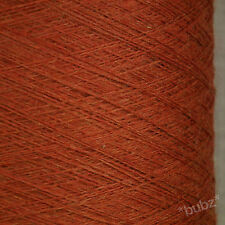 ITALIAN PURE MERINO WOOL 2/30s AUBURN - BROWN LACEWEIGHT YARN 1 2 PLY LANA GATTO