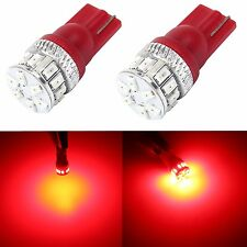 JDM ASTAR 2x T10 Wedge Red 3014-SMD Car LED Lights Bulb 194 168 175 W5W 2825 192
