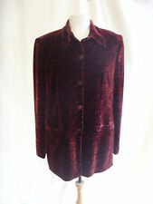 Ladies Suit Jacket/Overshirt - Yarell, size 14, two-tone red/black, floral 7814