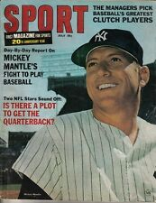 1966 (Jul.) Sport Magazine,Baseball, Mickey Mantle, New York Yankees ~ Fair