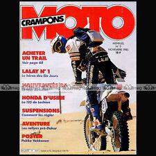 MOTO CRAMPONS N°9-b GILLES LALAY TRIKE ATC HONDA 250 RG VEHKONEN PHARAONS 1985