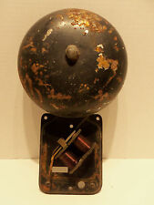 """Vintage Electric Boxing Fire Fighter School Alarm BELL Steady Ding Gong 10"""""""