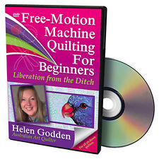 NEW DVD: FREE-MOTION MACHINE QUILTING FOR BEGINNERS: Liberation from Stitch in t