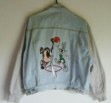 1993 Acme Looney Tunes Bugs & Taz Basketball Denim Jacket size Small