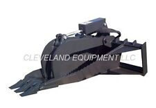 "NEW 62"" XL STUMP GRAPPLE BUCKET ATTACHMENT for Skid-Steer Track Tractor Loader"
