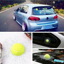 3D Tennis Car Window Body Adhesive Ball Hit Sticker Decal Glass Crack For BMW