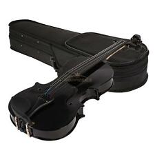 Hot Basswood 1/8 Full Size Acoustic Violin Fiddle Black with Case Bow Rosin New