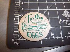 Milk Bottle Cap, try our farm fresh eggs, great graphic, vintage cap