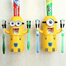 Auto Toothpaste Squeezer Despicable Me Toothbrush Holder Minions Dispenser Kids