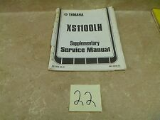 Yamaha 1100 XS XS100-LH Used Supplementary Service Manual 1981 #MAN22