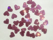 50 - Shiny Pink Love Hearts - Self Adhesive Peel-Offs - Size 16 x 11 mm       D