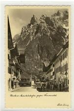 AK Mittenwald, Untere Marktstrasse gegen Karwendel 1940