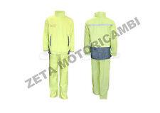 tuta antipioggia giallo fluo alta visibilità moto scooter giacca e pantalone