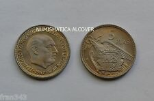 MONEDA de 5 pesetas 1957  *61 Franco PLUS ULTRA legible  SC