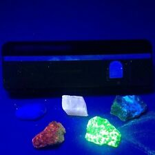 Five Fluorescent sample minerals shortwave longwave UV lamp 254nm 365nm  mon1