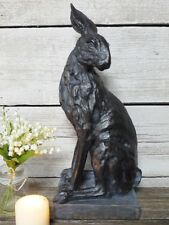 Vintage Outdoor Garden Statues Ornament Animal Hare Rabbit Sculpture Large 48cm