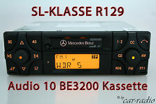 Original Mercedes R129 SL-Klasse W129 Autoradio Audio 10 BE3200 Kassette Becker