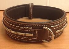 Cow Hide And Buffalo Leather Handmade Studded Dog Collar