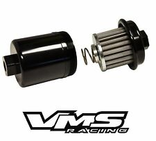 BLACK ALUMINUM DIRECT FIT HIGH FLOW RACING FUEL FILTER FOR HONDA DELSOL B16 VTEC