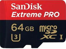 SANDISK EXTREME PRO 64GB MICRO SD CARD U3 MEMORY CLASS 10 SDXC GO PRO 95MB/SEC
