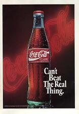1992 Coca-Cola Color Magazine Ad. Coke Can't Beat The Real Thing