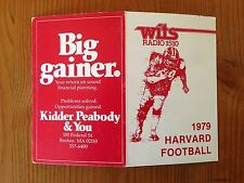 CFB 1979 HARVARD CRIMSON Football Schedule FB College WITS / Kidder Peabody