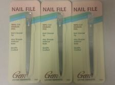 Vintage Nail Files! Triple Cut Stainless Steel! (Gem 1988) Unique old Items!
