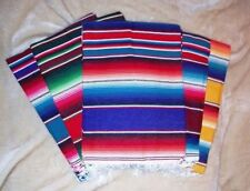 Roger Enterprises Large Authentic Mexican Serape Saltillo Blankets 7'/5'