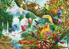 NEW! Gibsons Exotic Friends by John Francis 1000 piece jungle wildlife jigsaw