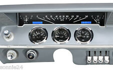 1961 1962 IMPALA GAUGE CLUSTER VHX GAUGES DAKOTA DIGITAL BBC LS1 Black White