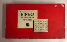 Vintage 1936 Selchow Righter BINGO Game Square Deal Set Cards Markers USA