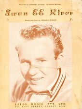 JOHNNY O'KEEFE - SWAN EE RIVER - ORIGINAL 60's SHEET MUSIC Australia VERY RARE