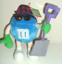 "M&M's 8"" Blue Character Outdoorsman Plush by Galerie 2005 NWT Carpenter Shovel"