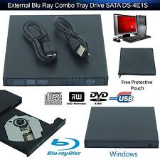 USB External DVD CD Player Reader DVD CD RW LightScribe Drive for PC Mac Black