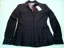 REPLAY Damen Bluse Teens Größe XS ( 32 / 34 ) schwarz NEU W2463 mit Seide