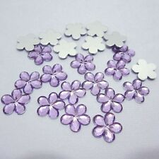 Flower Acrylic Plum Blossom Flat Back Scrapbook Craft Decoration 10mm-100 Pieces