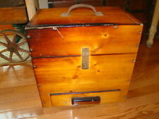 """Large Handmade Solid Wood Tool Chest with Drawer. 16"""" x 16"""" x 10 1/2"""""""