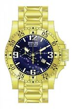 Invicta Excursion Chronograph Blue Dial Gold-plated Mens Watch 80558