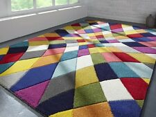 Modern Rhumba Multi Colour Bright Spectrum Rugs Hand Carved 120X170cm 3 Sizes