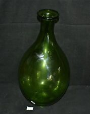 ThriftCHI ~ Large Green Glass Bulbous Vase