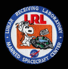 SNOOPY APOLLO LUNAR RECEIVING LABORATORY MANNED SPACECRAFT NASA SPACE PATCH