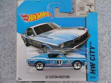 Hot Wheels 2014 #098/250 1967 FORD MUSTANG blue HW CITY