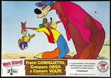 CINEMA-fotobusta FRATEL CONIGLIETTO,COMPARE ORSO E COMARE VOLPE cartoon disney