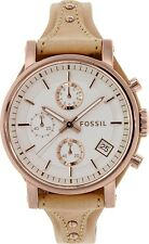 Fossil Women's Original Boyfriend  ES3748 Rose Gold Leather Quartz Watch