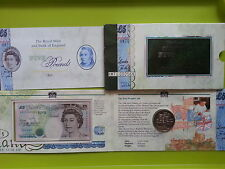 United Kingdom Commemorative Note and coin with Folder UNC
